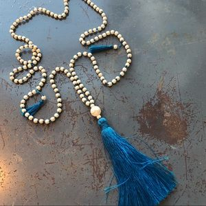 Jewelry - 🔴Deep Teal tassel beaded necklace